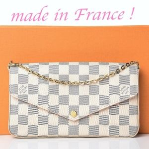 Louis Vuitton FÉLICIE POCHETTE Azur Rose Ballerine